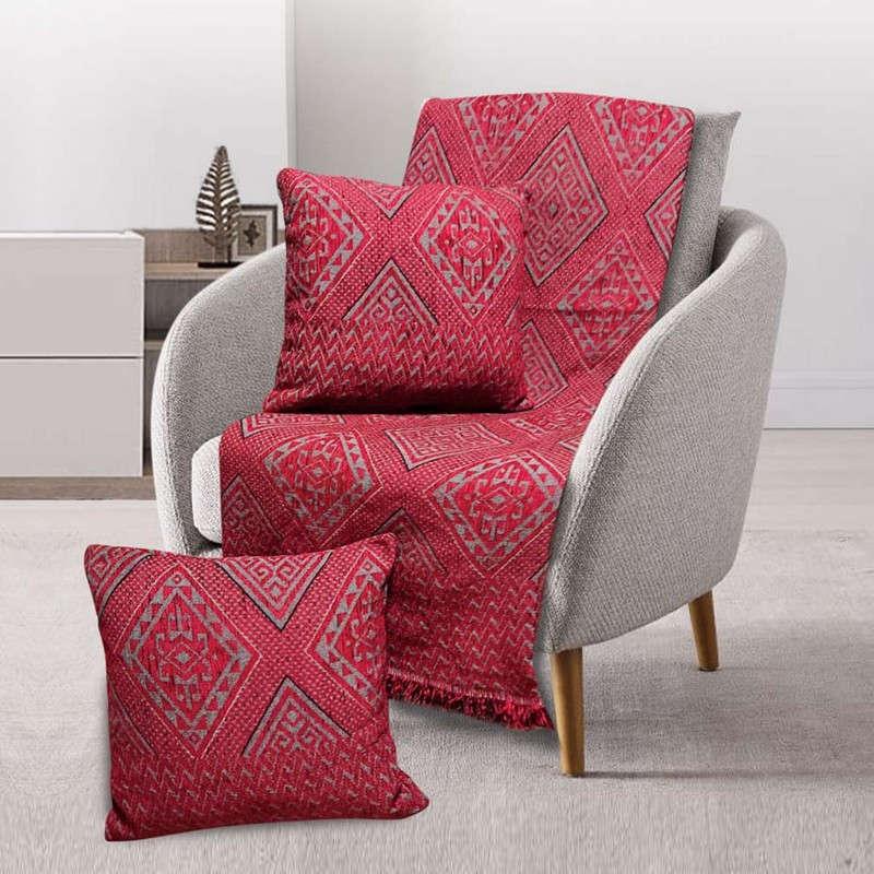 Μαξιλαροθήκη Διακοσμητική Tivoli Bordo Sb Home 40Χ40 100% Chenille