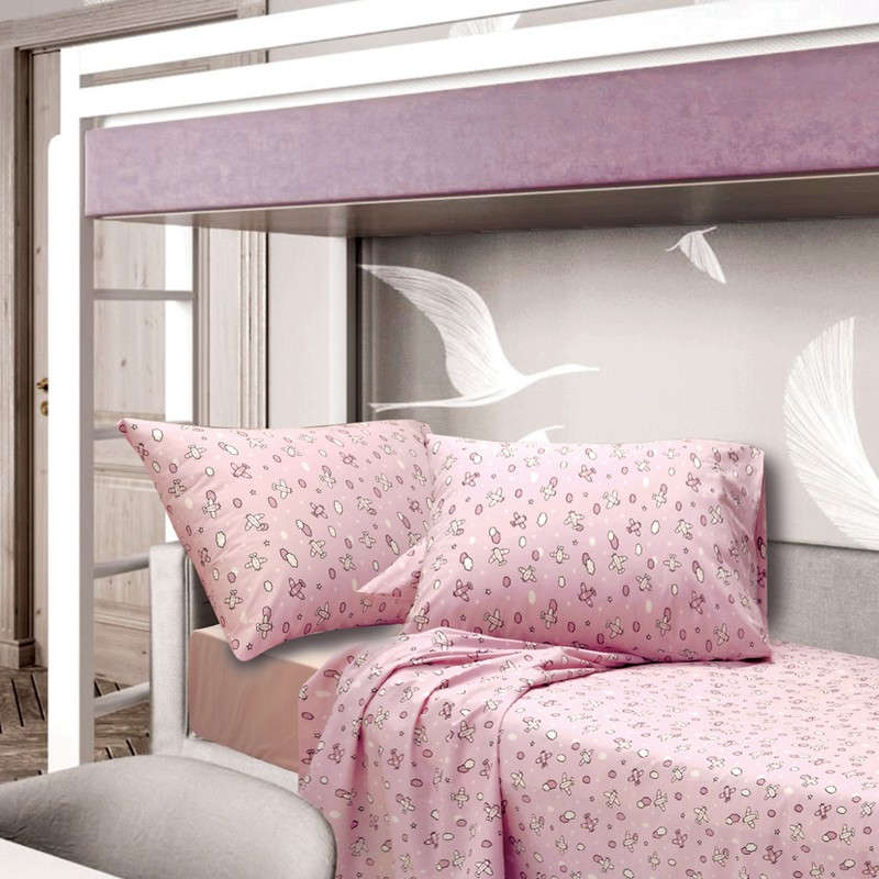 Παπλωματοθήκη Παιδική Camy Pink Sb Home Μονό 160x240cm