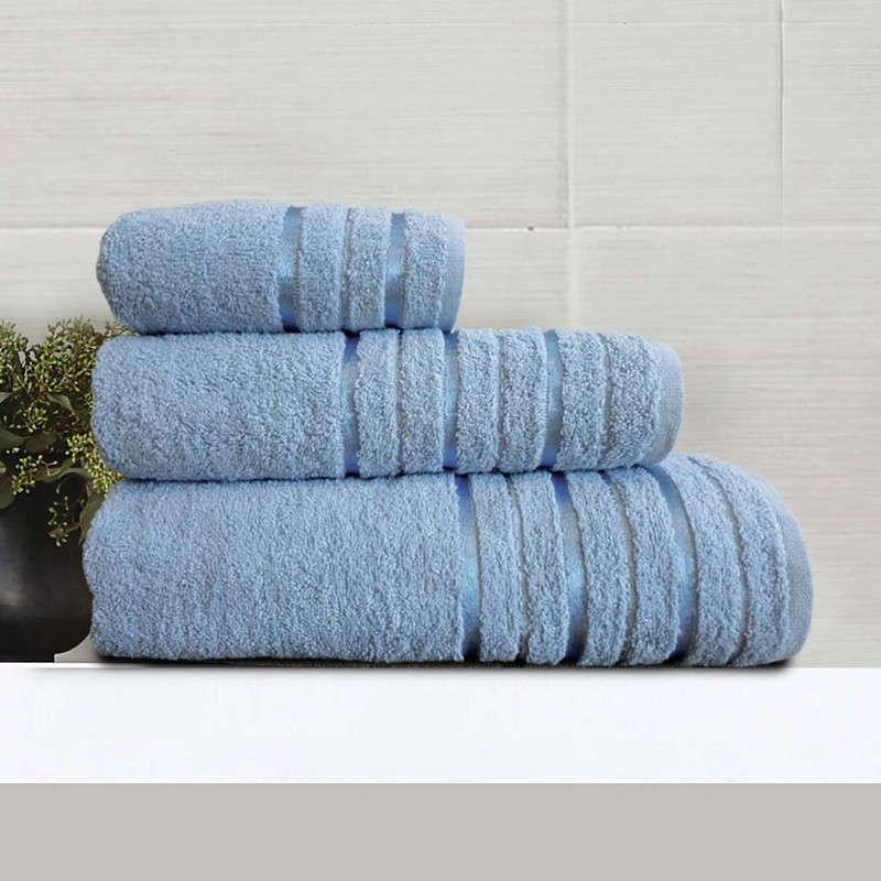 Πετσέτα Nefeli Blue Sb Home Σώματος 70x140cm