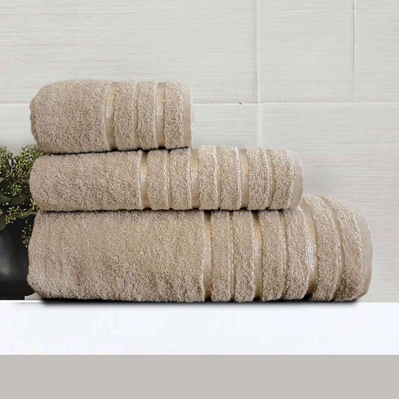 Πετσέτες Σετ 3Τμχ Nefeli Beige Sb Home Σετ Πετσέτες 70x140cm