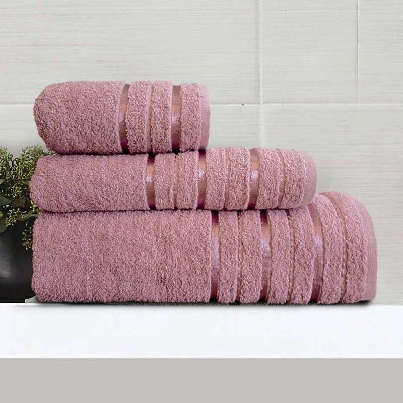 Πετσέτες Σετ 3Τμχ Nefeli Violet Sb Home Σετ Πετσέτες 70x140cm