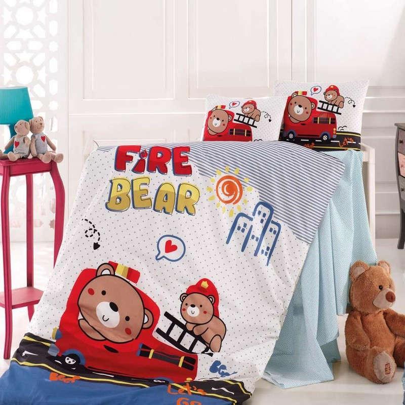 Σεντόνι Βρεφικό Σετ 3Τμχ Fire Bear Sb Home Κούνιας 110x150cm