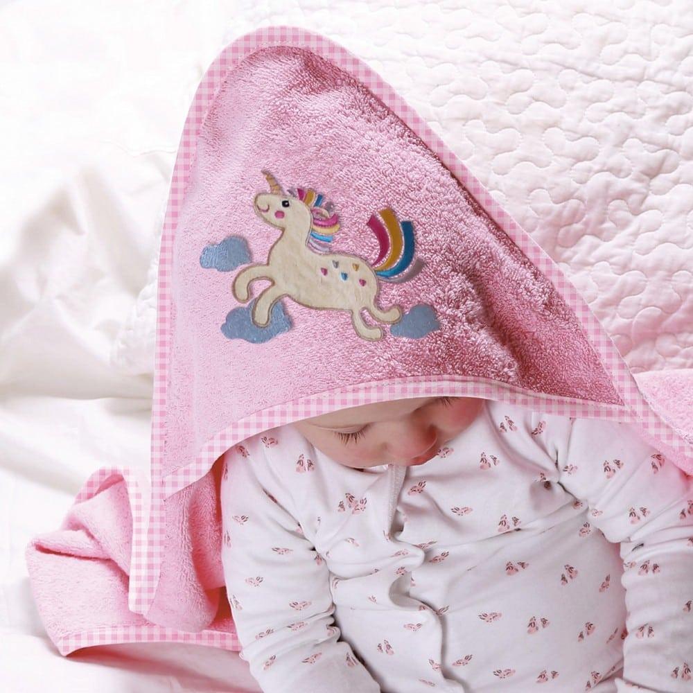 Κάπα Βρεφική Με Κουκούλα Baby Horse Pink Sb Home 0-2 ετών 75x75cm