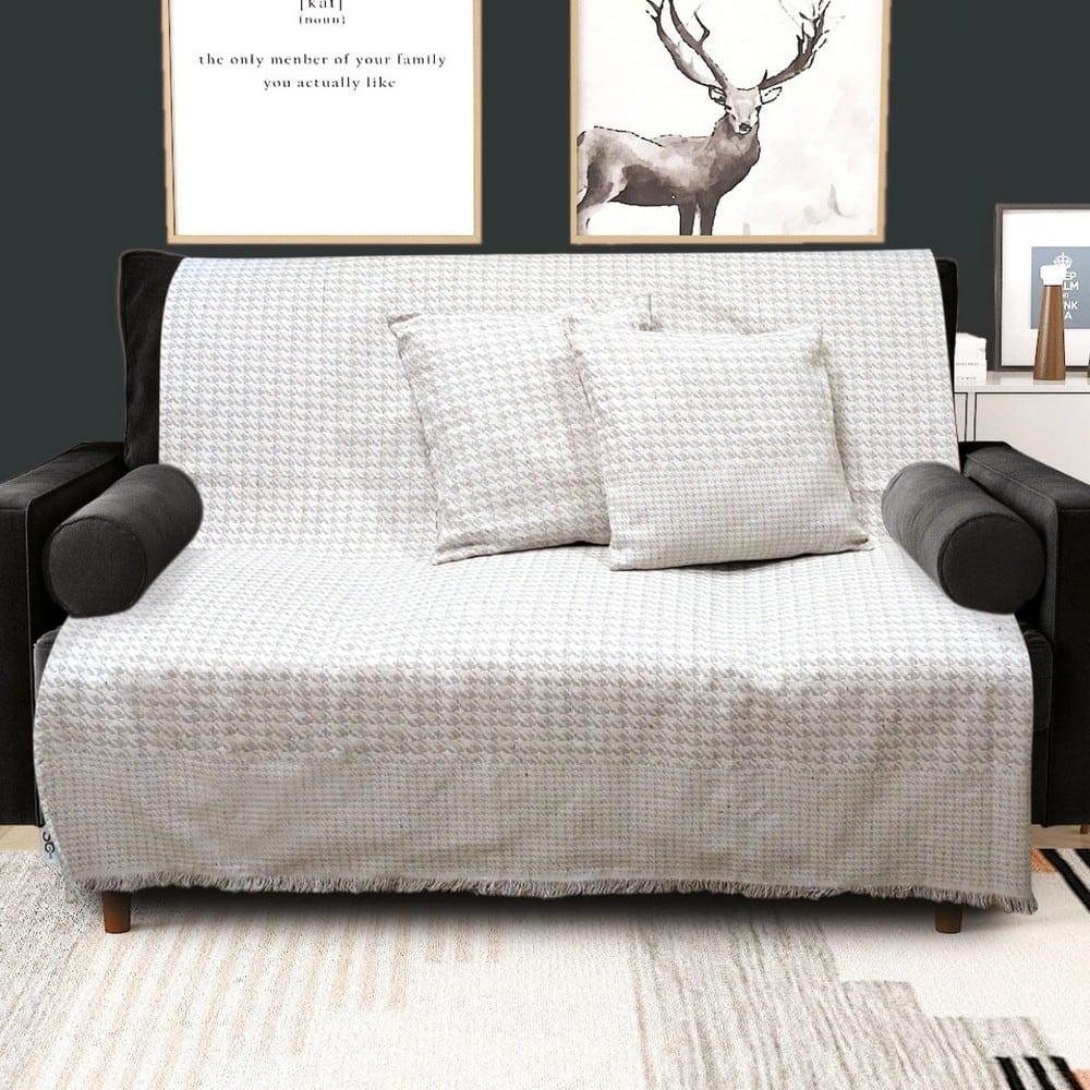 Μαξιλαροθήκη Διακοσμητική Norman Silver Sb Home 40Χ40 Βαμβάκι-Polyester