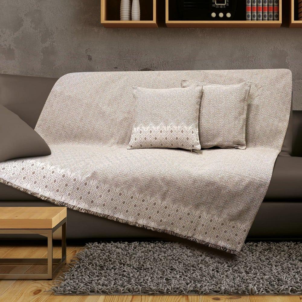 Μαξιλαροθήκη Διακοσμητική Texas Mocca Sb Home 40Χ40 Βαμβάκι-Polyester