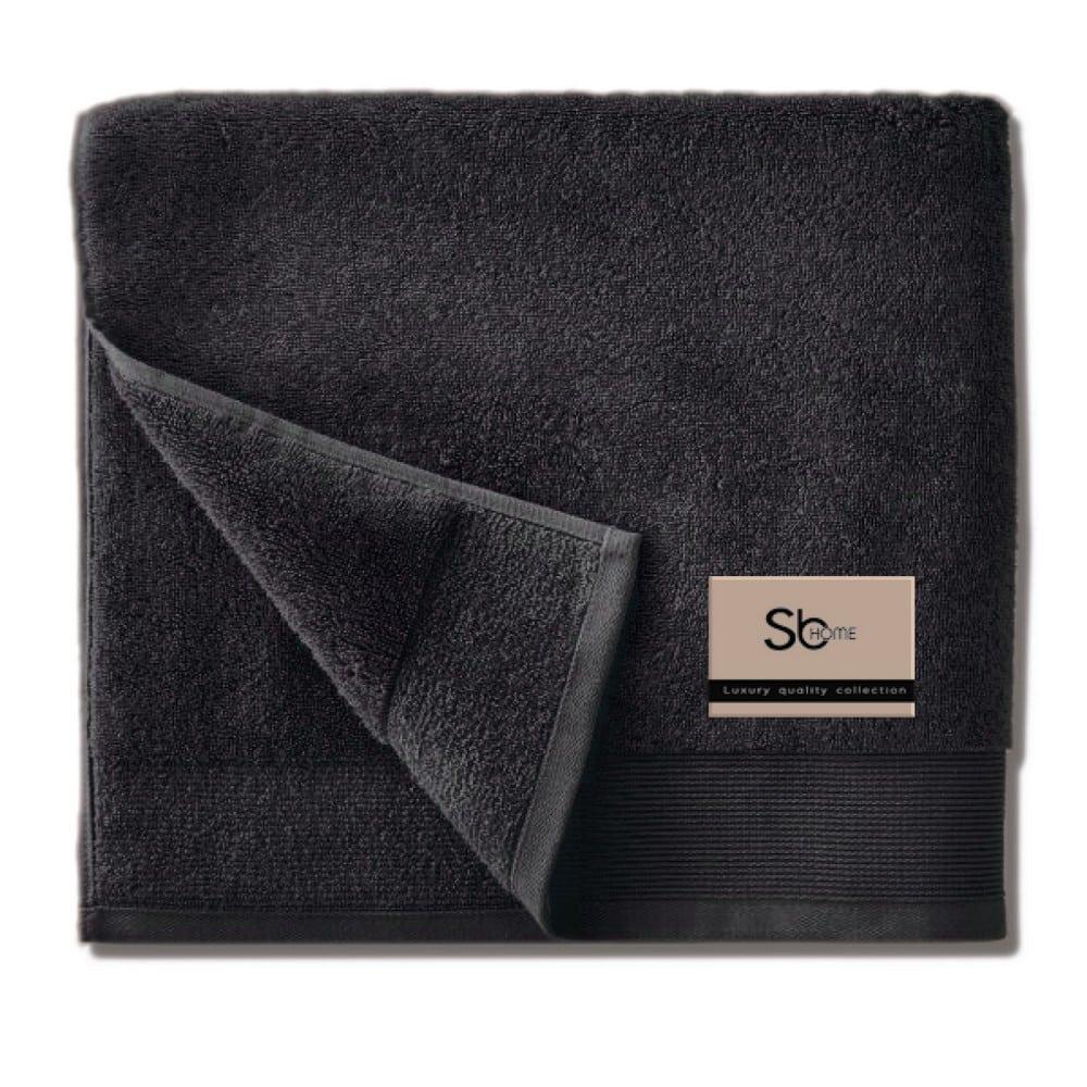 Πετσέτα Elegante Black Sb Home Προσώπου 50x100cm