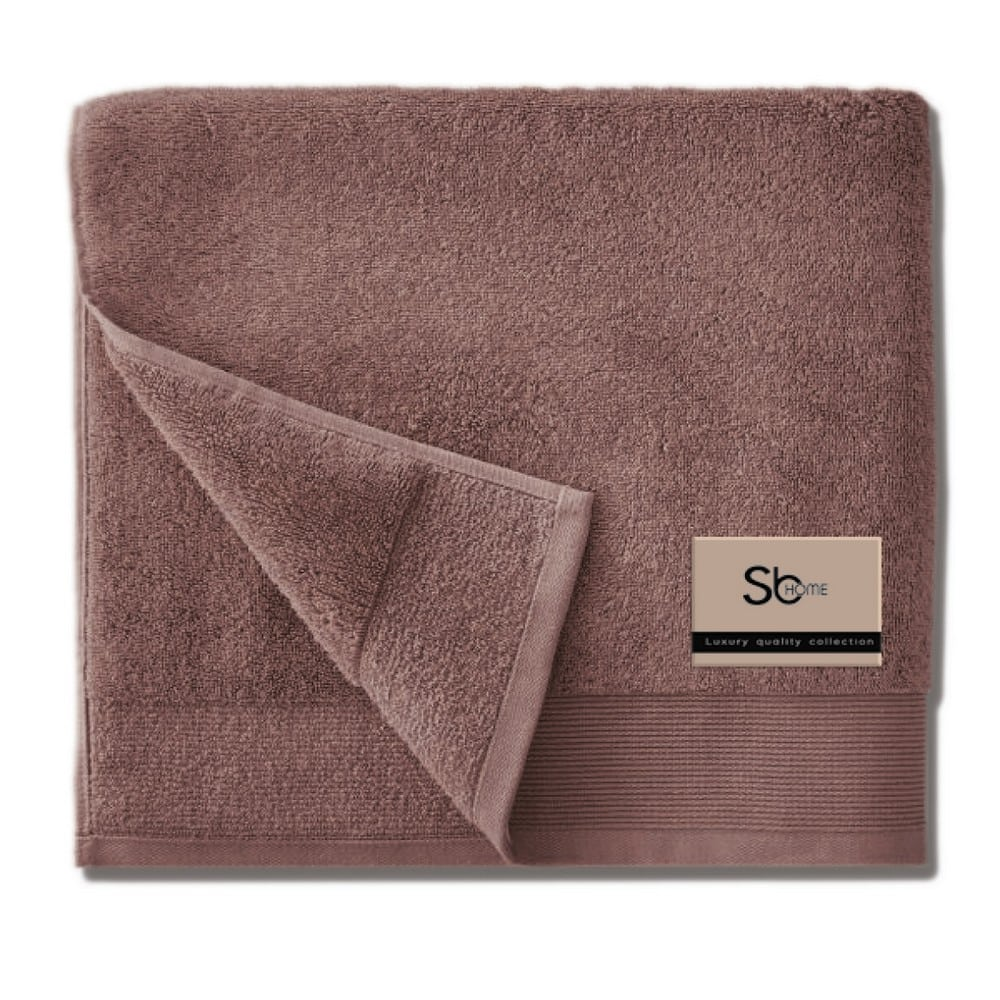 Πετσέτα Elegante Taupe Sb Home Προσώπου 50x100cm