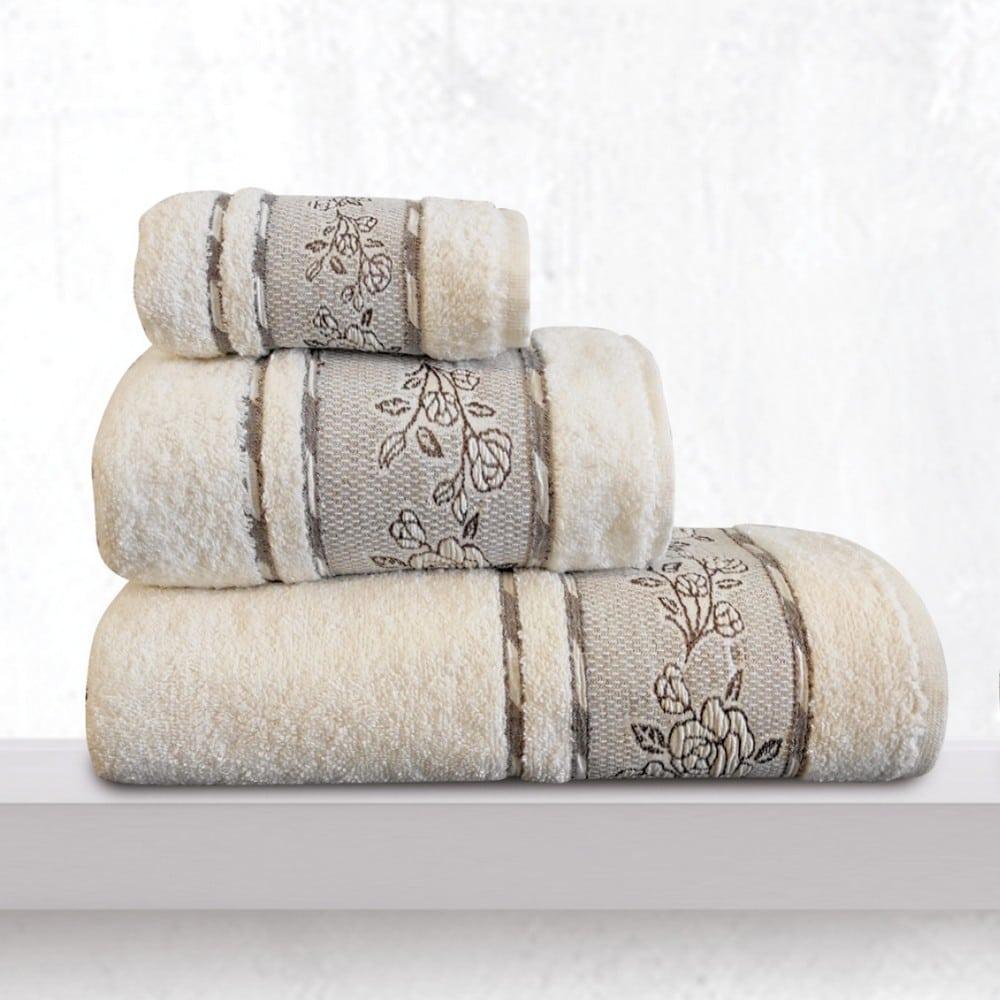 Πετσέτα Themis Cream Sb Home Χεριών 30x50cm