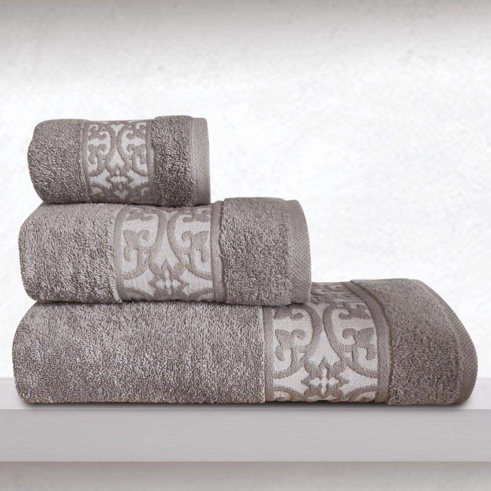 Πετσέτα Zenith Grey Sb Home Σώματος 70x140cm