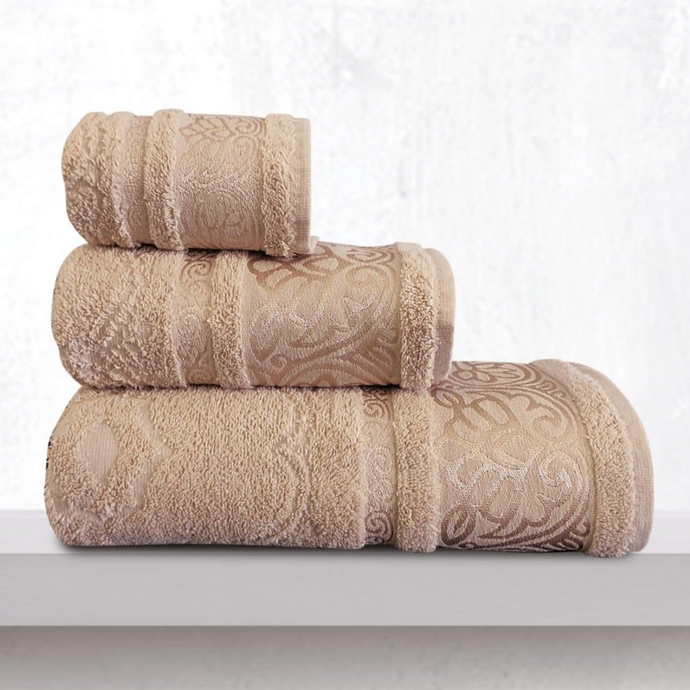 Πετσέτες Cronos Σετ 3τμχ Beige Sb Home Σετ Πετσέτες 70x140cm