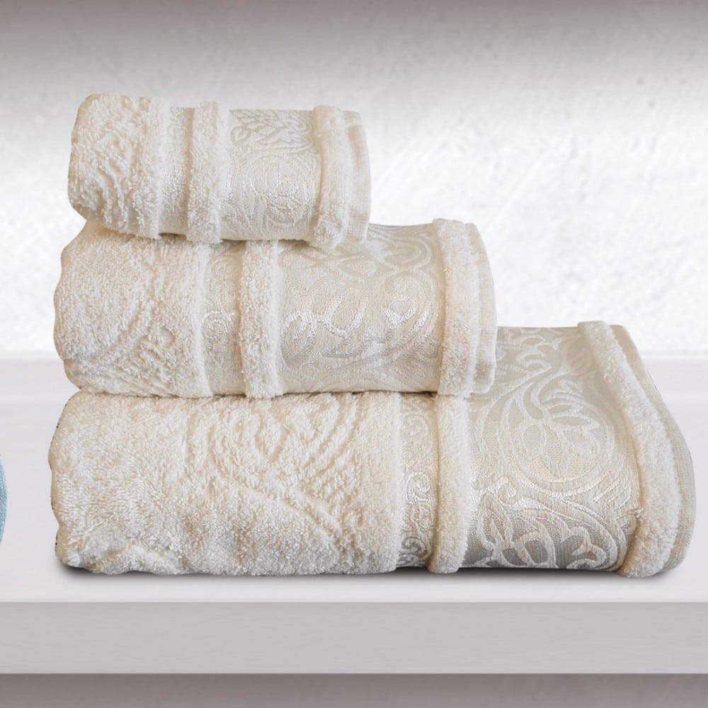 Πετσέτες Cronos Σετ 3τμχ Ecru Sb Home Σετ Πετσέτες 70x140cm