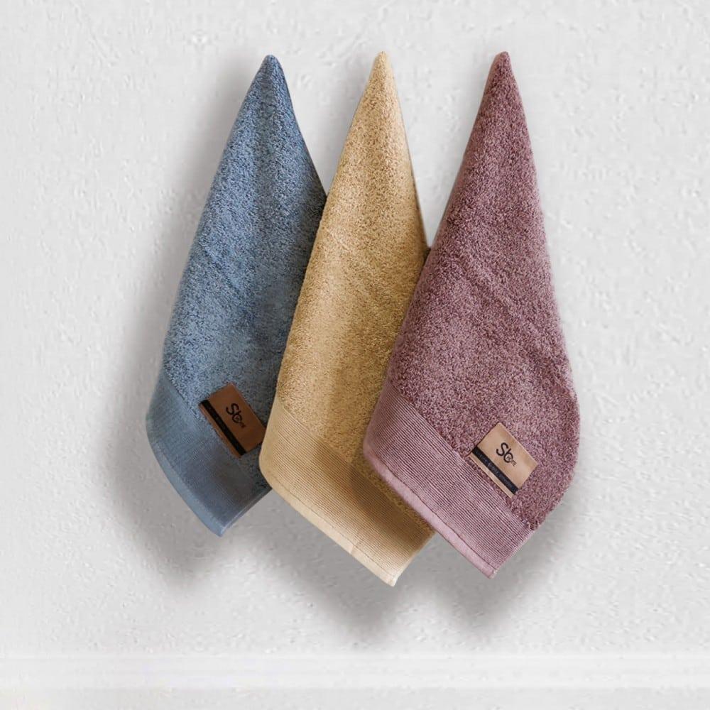 Πετσέτες Elegante Σετ 3τμχ No 2 Blue-Beige Sb Home Σετ Πετσέτες 40x60cm