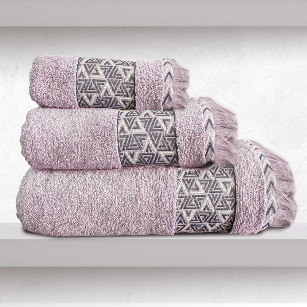 Πετσέτες Rafaela Σετ 2τμχ Pink Sb Home Σετ Πετσέτες