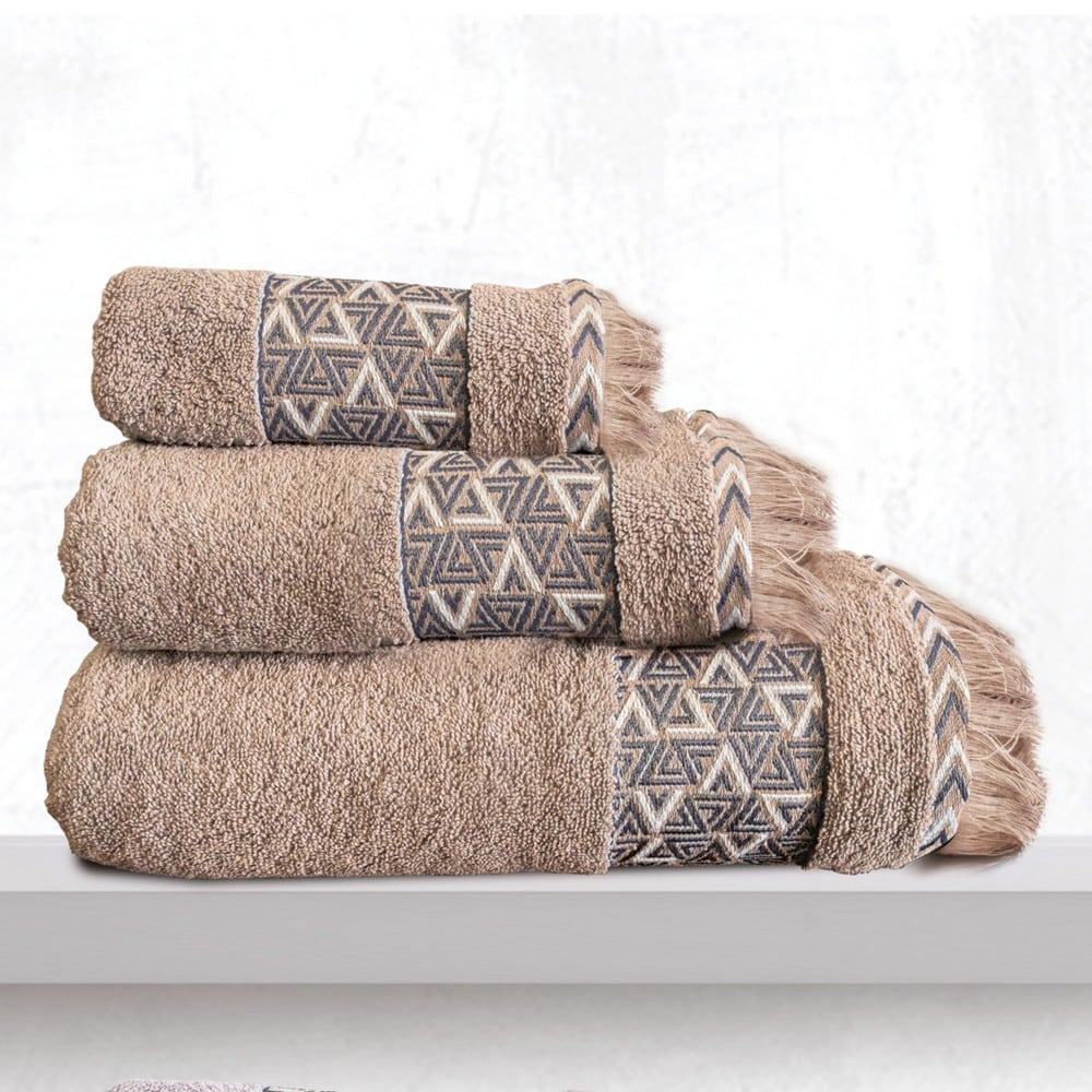 Πετσέτες Rafaela Σετ 3τμχ Beige Sb Home Σετ Πετσέτες 70x140cm