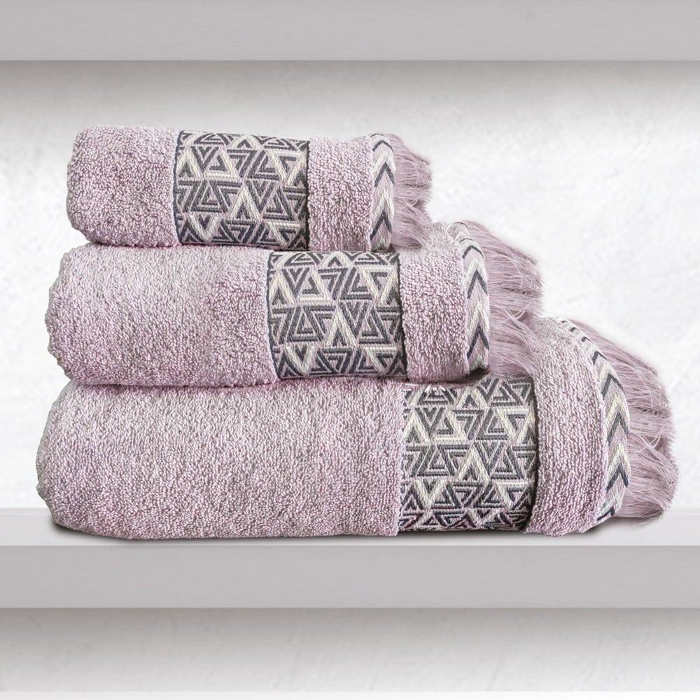 Πετσέτες Rafaela Σετ 3τμχ Pink Sb Home Σετ Πετσέτες 70x140cm