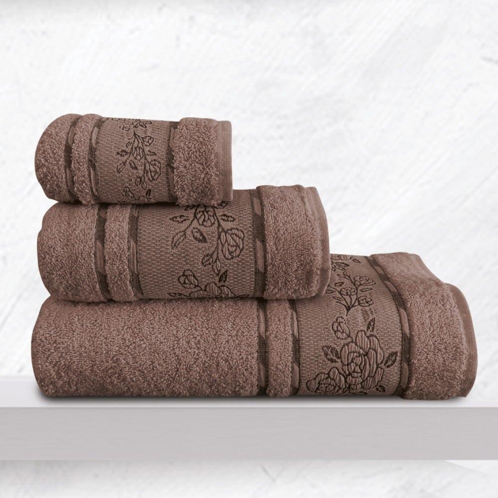 Πετσέτες Themis Σετ 3τμχ Choco Sb Home Σετ Πετσέτες 70x140cm