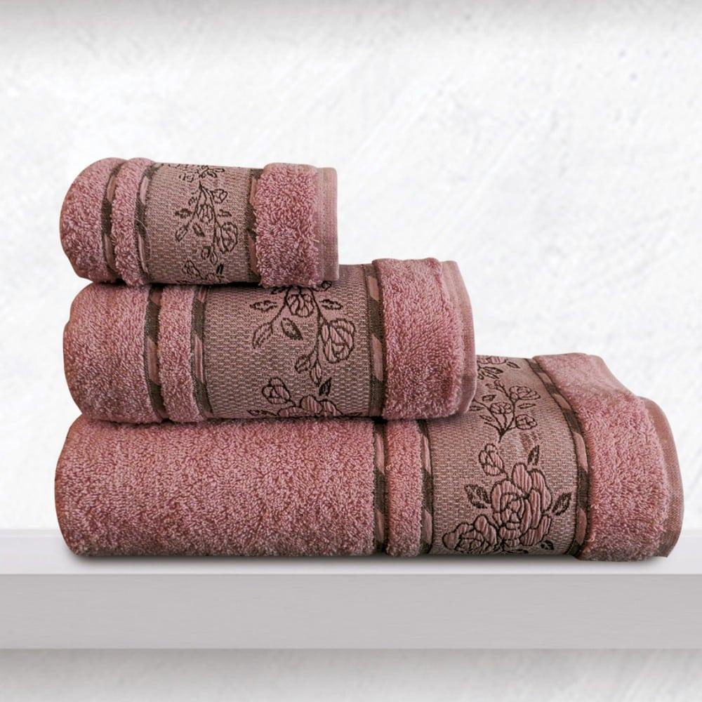 Πετσέτες Themis Σετ 3τμχ Dusty Pink Sb Home Σετ Πετσέτες 70x140cm