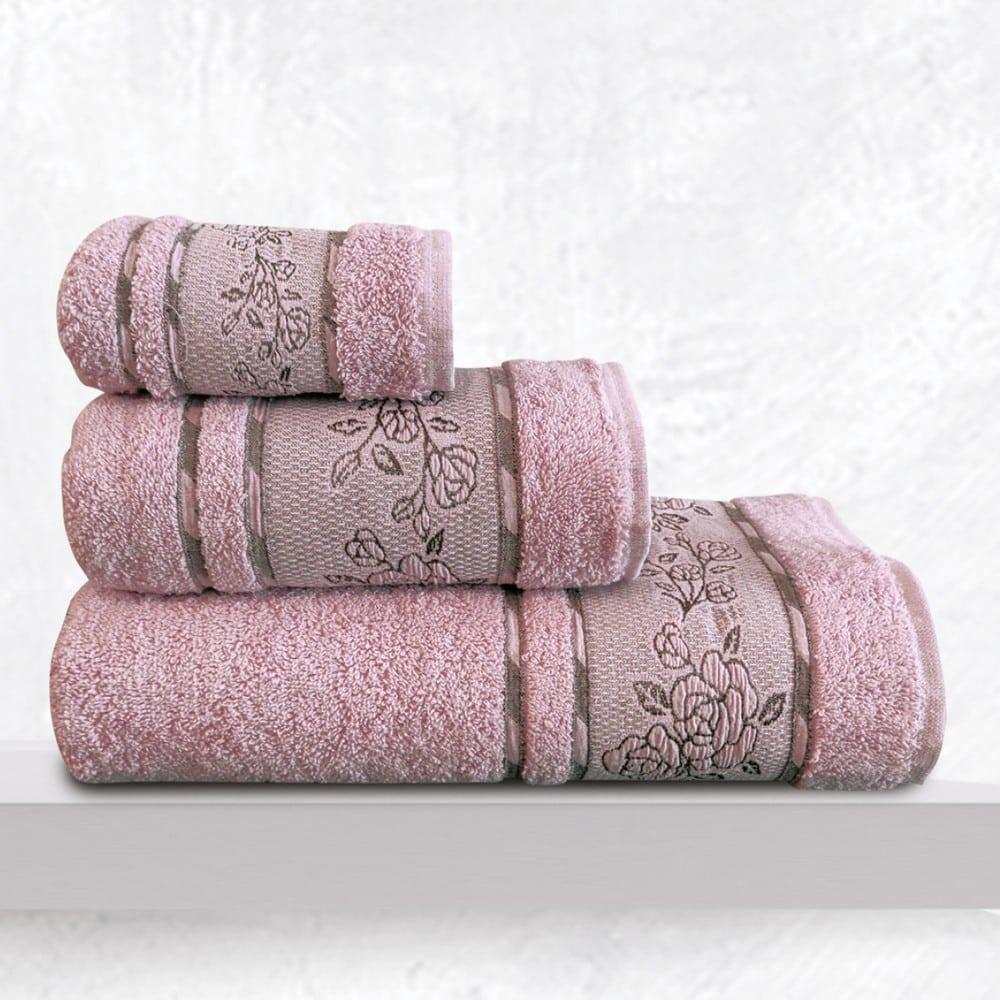 Πετσέτες Themis Σετ 3τμχ Lila Sb Home Σετ Πετσέτες 70x140cm