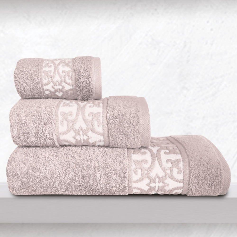 Πετσέτες Zenith Σετ 3τμχ Crystal Sb Home Σετ Πετσέτες 70x140cm