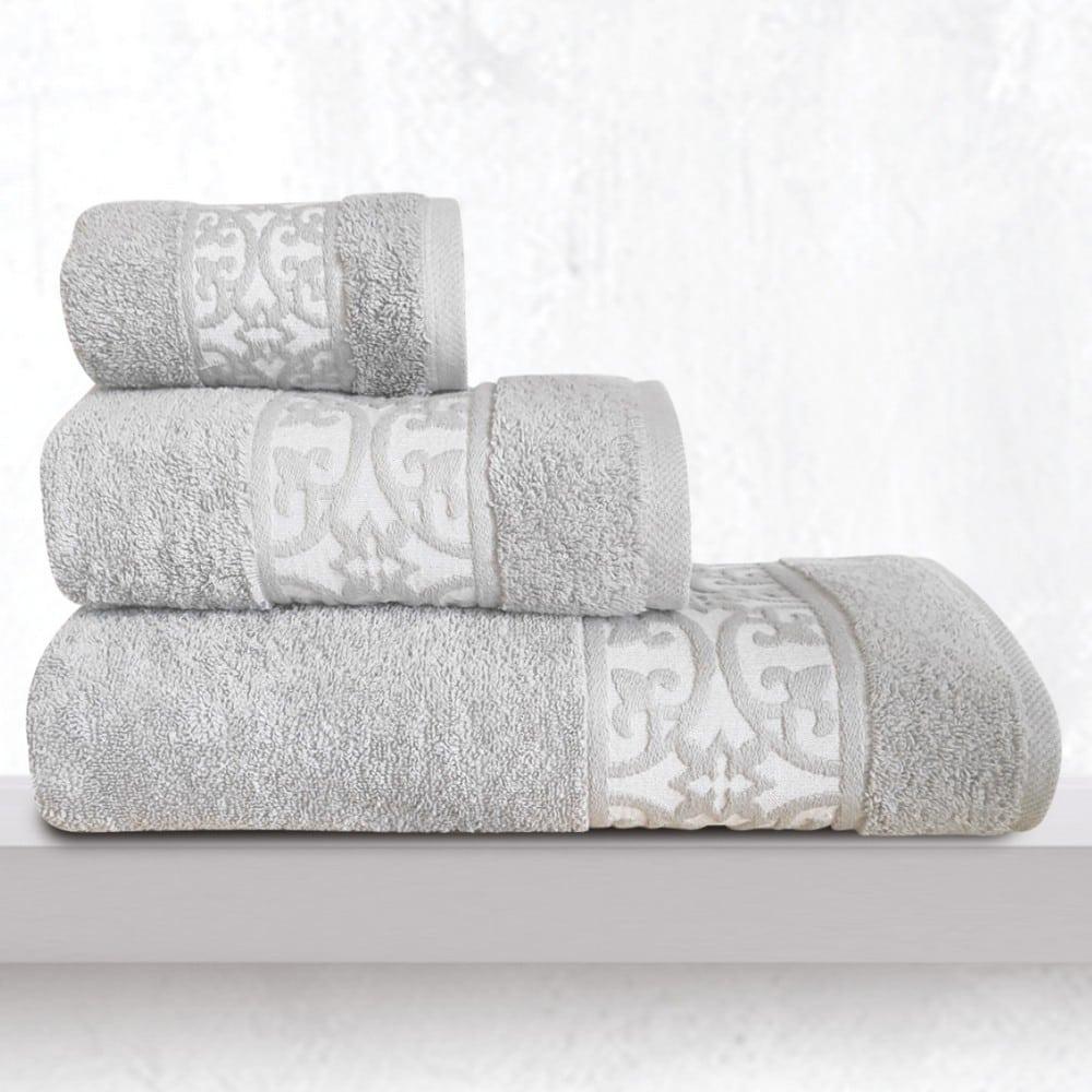Πετσέτες Zenith Σετ 3τμχ Silver Sb Home Σετ Πετσέτες 70x140cm