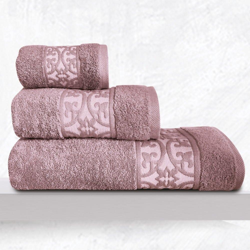 Πετσέτες Zenith Σετ 3τμχ Violet Sb Home Σετ Πετσέτες 70x140cm
