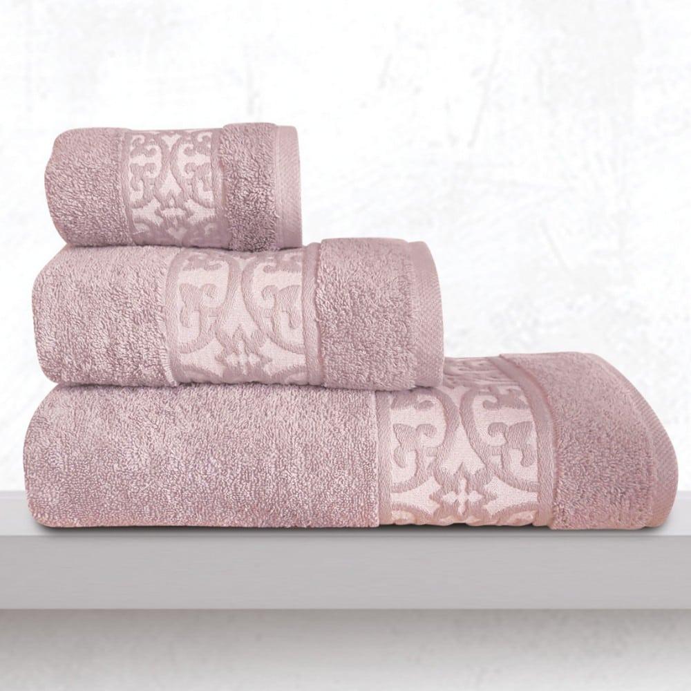 Πετσέτες Zenith Σετ 3τμχ Lila Sb Home Σετ Πετσέτες 70x140cm