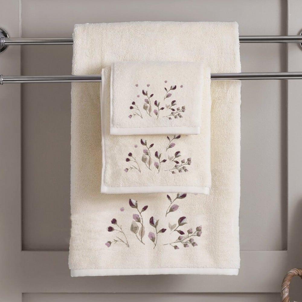 Πετσέτες Σετ 3τμχ Lilly Ecru Sb Home Σετ Πετσέτες 70x140cm