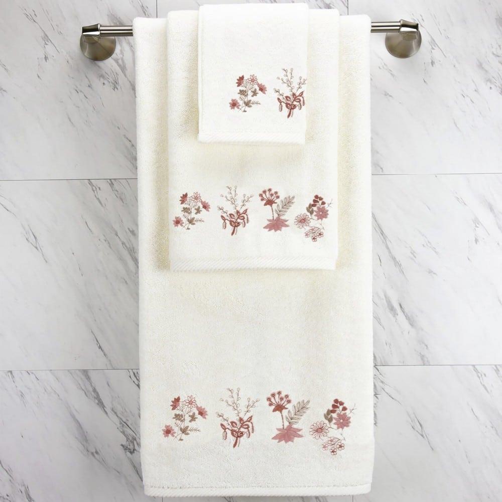 Πετσέτες Σετ 3τμχ Posy Ecru Sb Home Σετ Πετσέτες 70x140cm