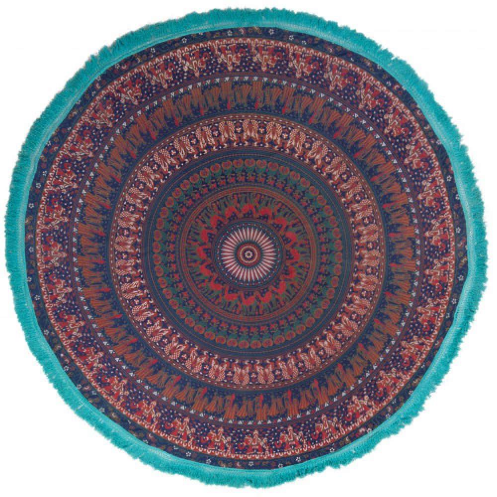 Ριχτάρι Mandala Στρογγυλό ISTW149D Μπλε Πολυθρόνα 168x168cm
