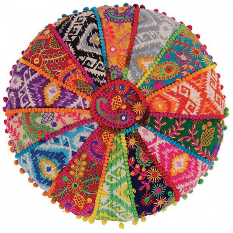 Μαξιλάρι Διακοσμητικό (Με Γέμιση) Yoga NAYOGA620 Multi Patchwork 40Χ40 100% Βαμβάκι