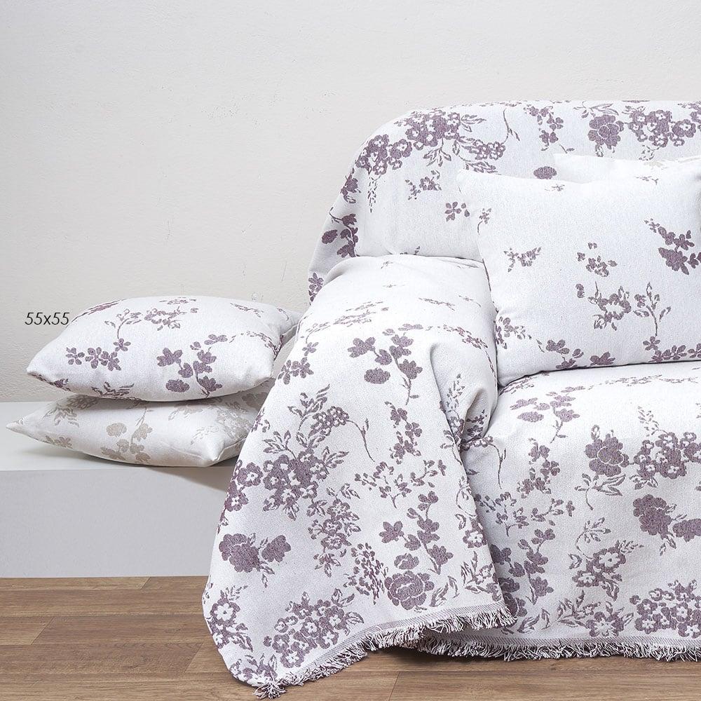 Μαξιλάρι Διακοσμητικό (Με Γέμιση) Des. 1530 Cherry Anna Riska 40Χ40 100% Polyester