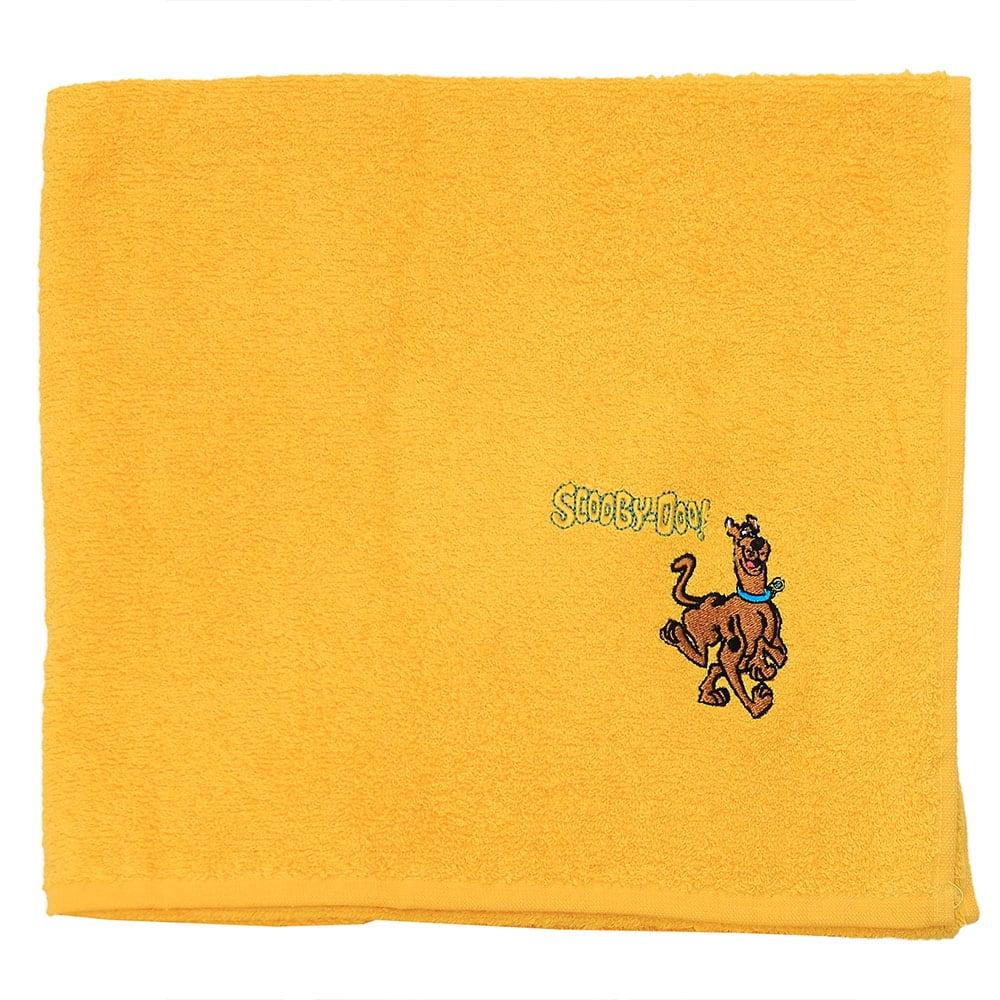 Πετσέτα Παιδική Με Κέντημα Scooby Doo 19 Orange Viopros Προσώπου 50x80cm