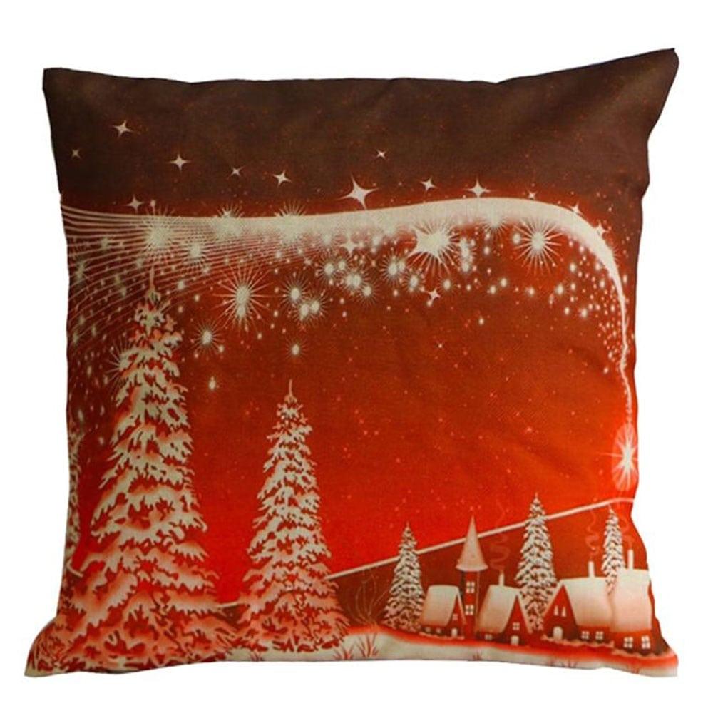 Μαξιλάρι Διακοσμητικό Χριστουγεννιάτικο Led Με Γέμιση Σχ. 319 Multi Viopros 45X45