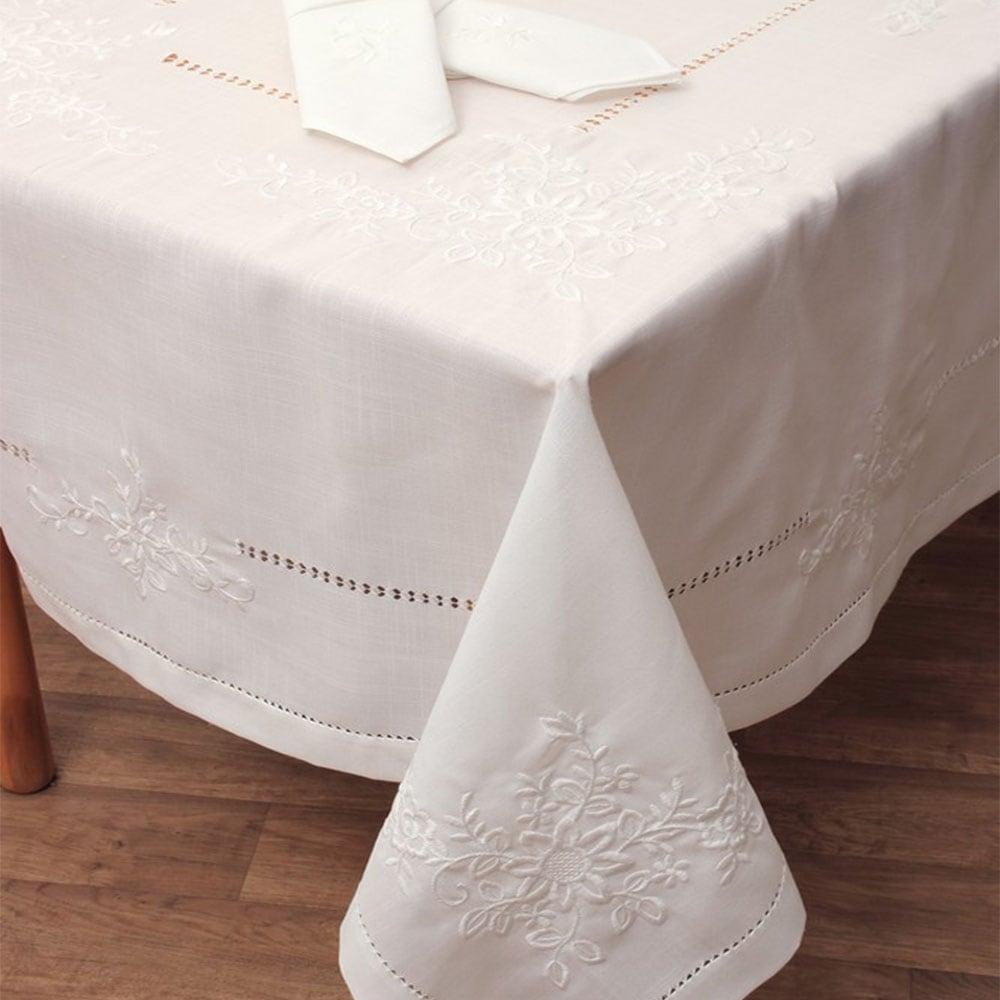 Τραπεζομάντηλο Σχ 18015 Σετ Με 12 πετσέτες Ecru Viopros 170X300