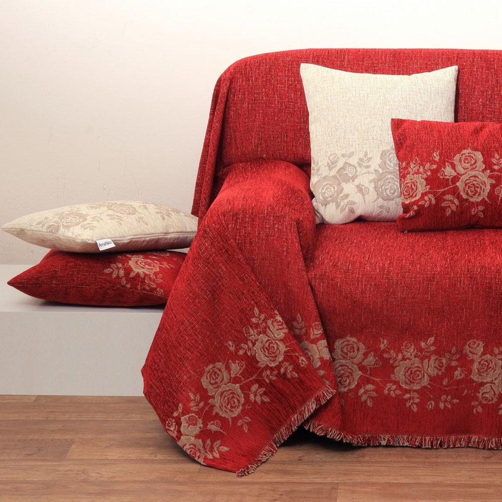 Ριχτάρι Des. 1434 Red Anna Riska Τετραθέσιο 180x320cm