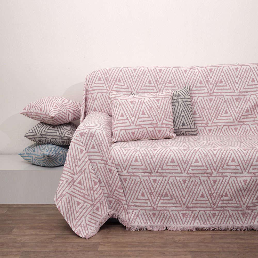 Ριχτάρι Ζακάρ Des.1560 Blush Pink Anna Riska Πολυθρόνα 180x180cm