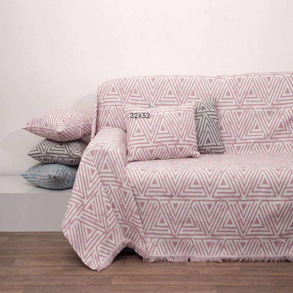 Μαξιλάρι Διακοσμητικό (Με Γέμιση) Des.1560 Blush Pink Anna Riska 40Χ40 100% Βαμβάκι
