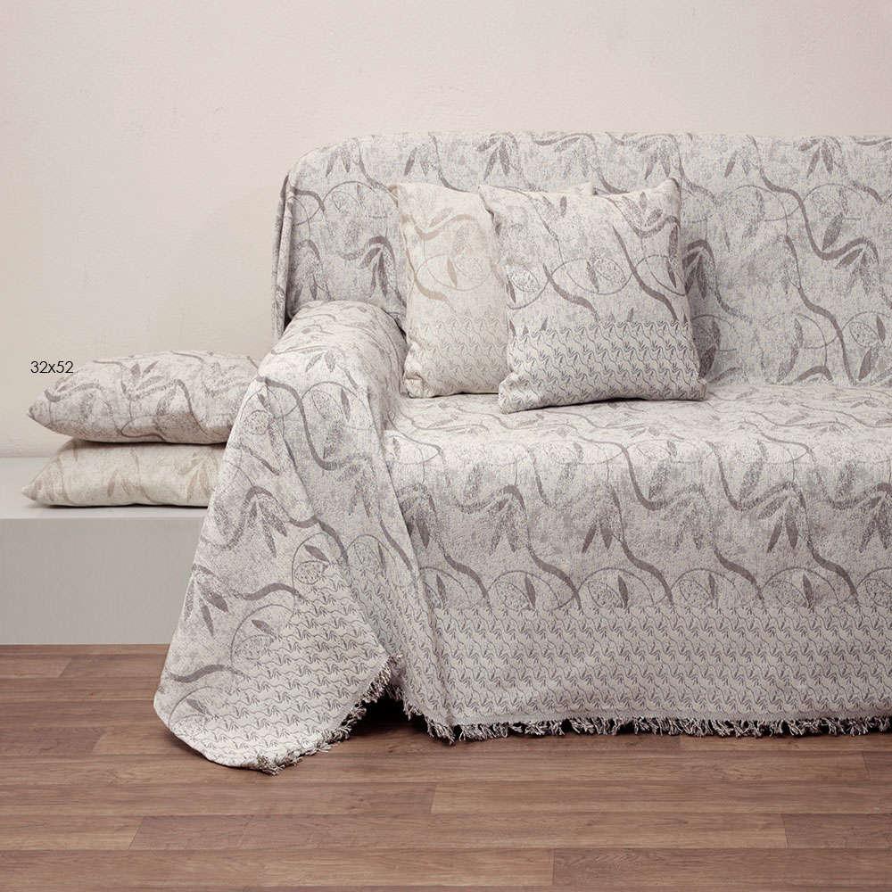 Μαξιλάρι Διακοσμητικό (Με Γέμιση) Des.1533 Linen Anna Riska 50X50 100% Βαμβάκι