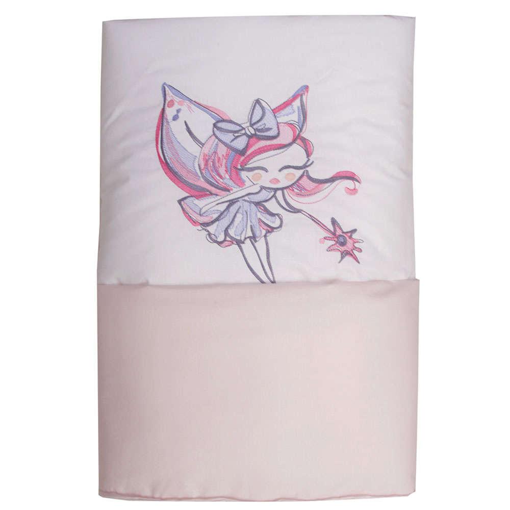 Παπλωματοθήκη Βρεφική Des. Felicia White-Pink Anna Riska 100x150cm