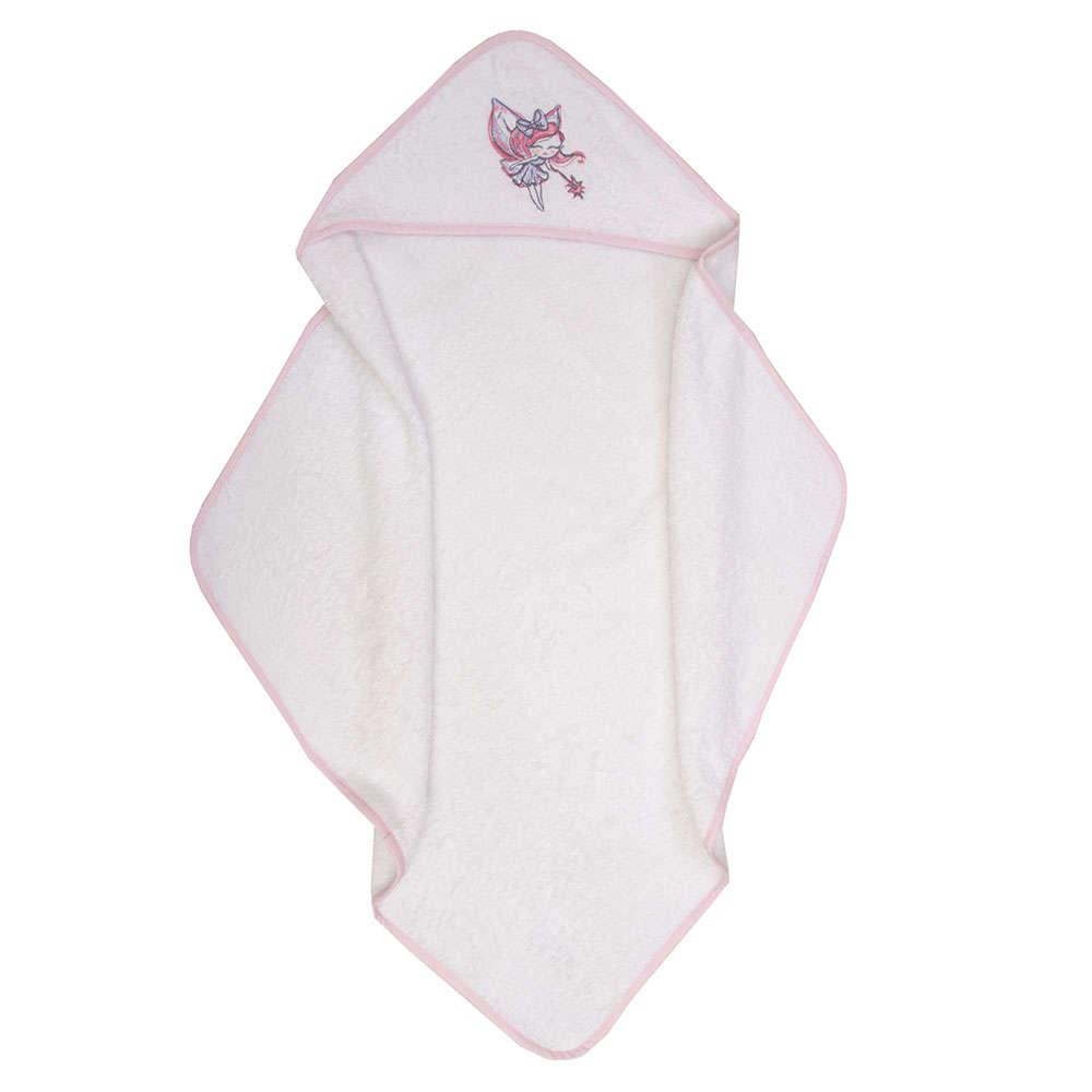 Κάπα Βρεφική Des. Felicia White-Pink Anna Riska 75x75cm