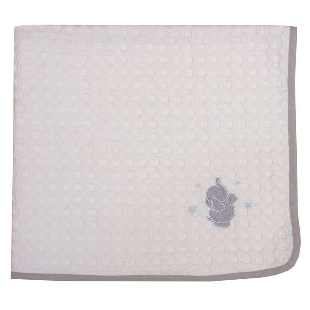 Κουβέρτα Βρεφική Πικέ Des. Babar White-Grey Anna Riska Αγκαλιάς 80x110cm