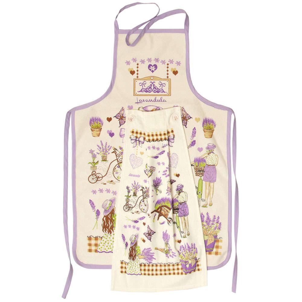Σετ Κουζίνας 2Τμχ Σχ. 4 Lilac-Beige Viopros 40x60cm