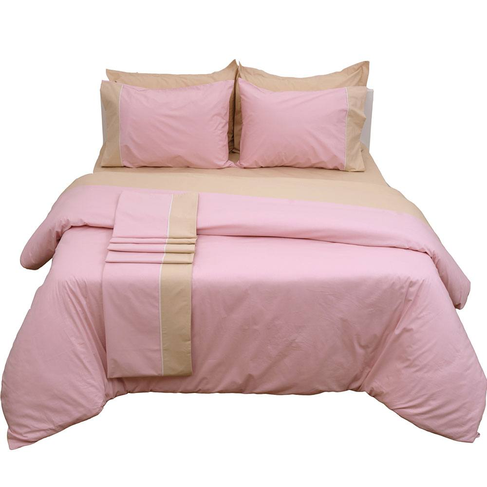 Κουβερλί Δύο Όψεων Supreme Collection Pink-Beige Viopros Υπέρδιπλo 220x240cm