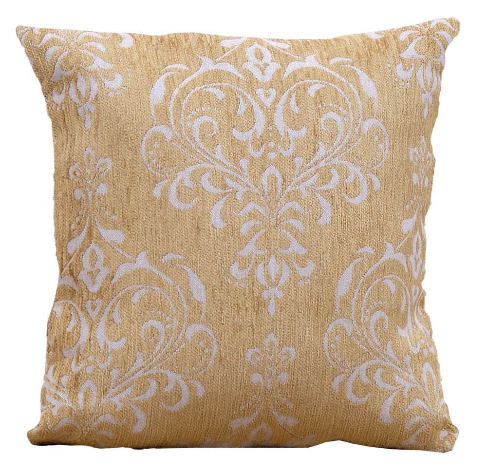 Μαξιλάρι Διακοσμητικό (Με Γέμιση) Des. 1437 Gold Anna Riska 50X50 100% Chenille