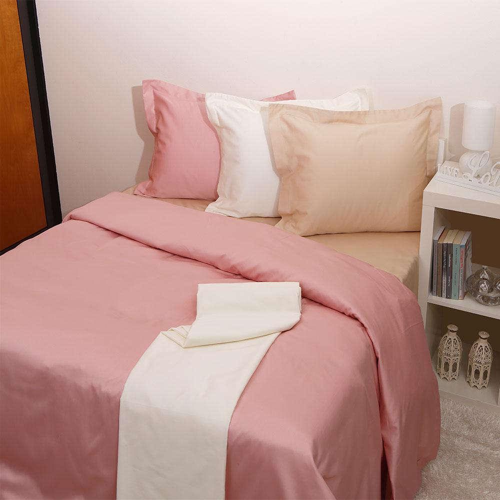 Παπλωματοθήκη Luxury Unicolour 8 Blush Pink Anna Riska Ημίδιπλο 160x240cm