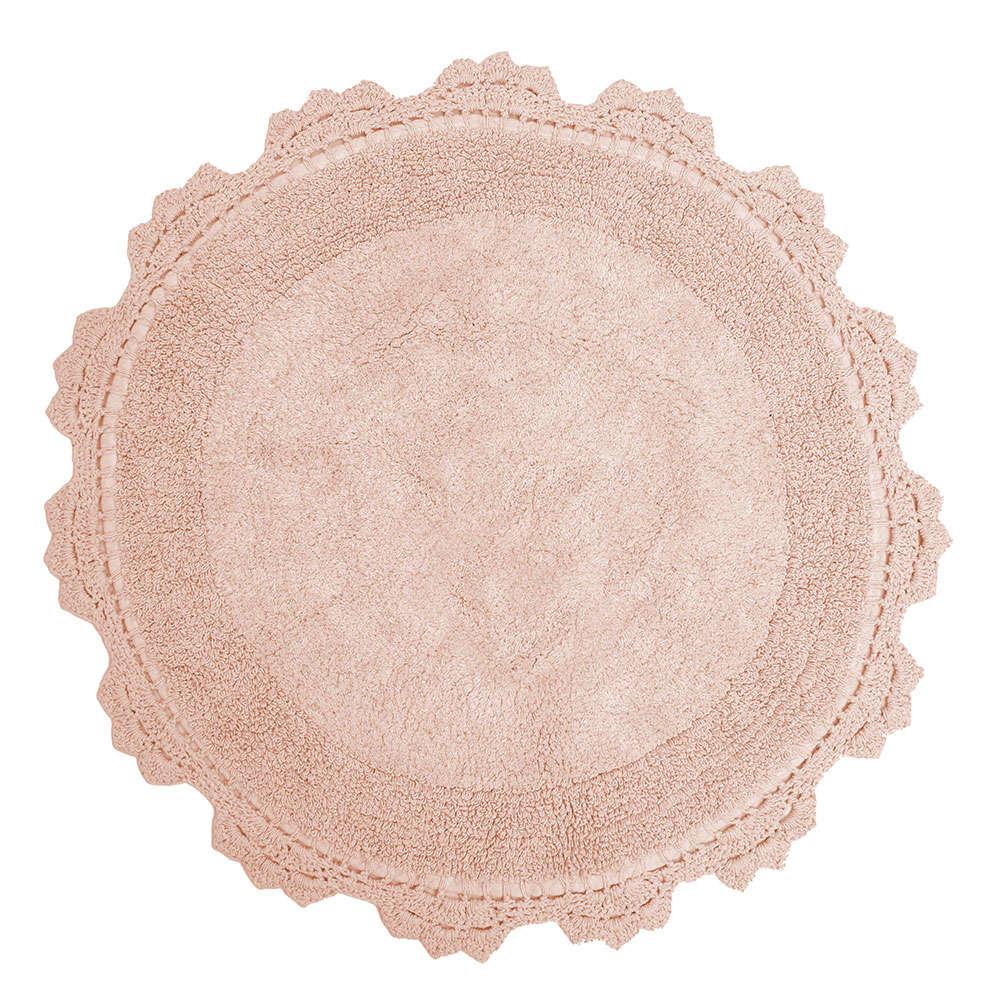 Πατάκι Μπάνιου Στρογγυλό Des. Lace Blush Pink Anna Riska Medium 60x60cm