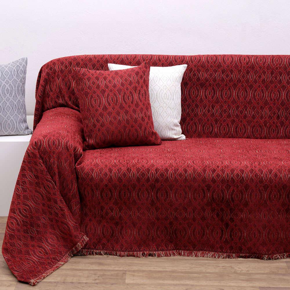 Ριχτάρι Des. 1439 Red Anna Riska Διθέσιο 180x240cm