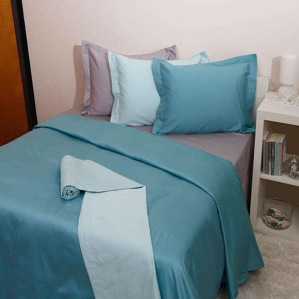 Σεντόνι Μεμονωμένο Luxury Unicolour 6 Lake Blue Anna Riska Ημίδιπλο 170x270cm