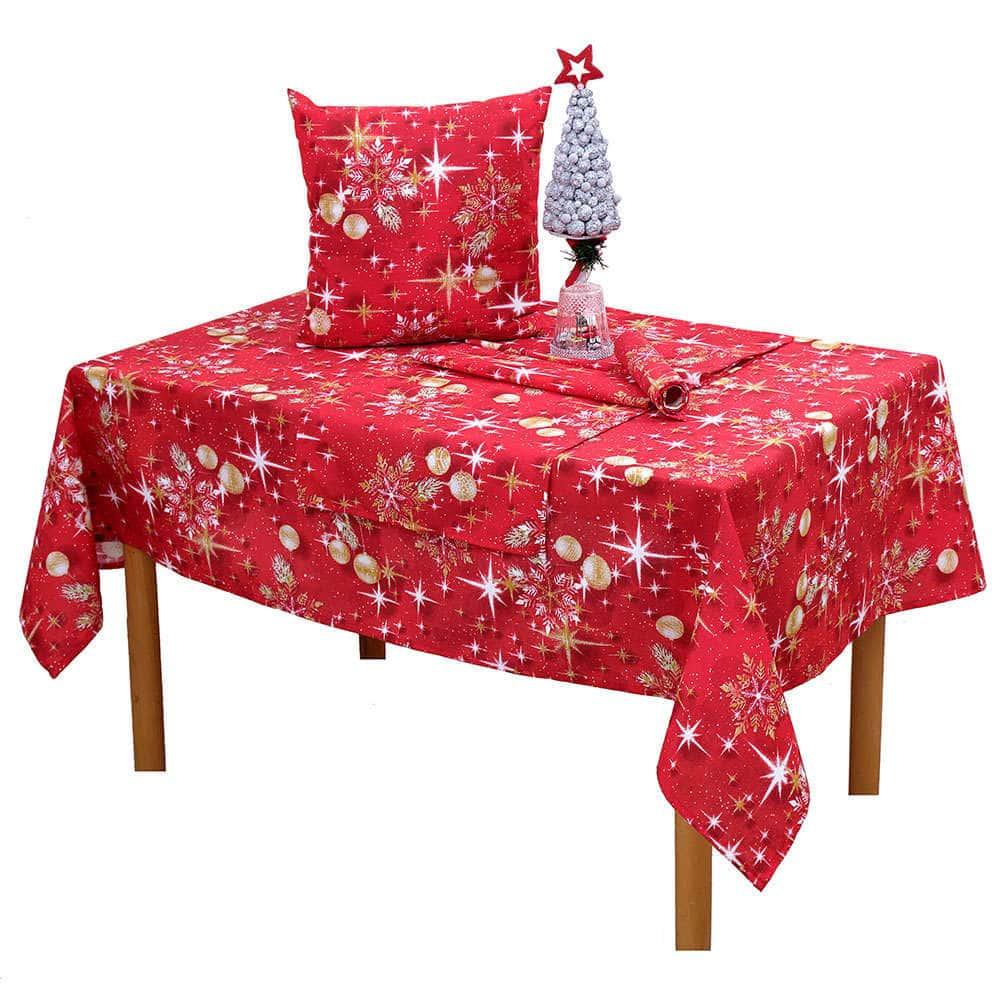 Τραπεζομάντηλο Χριστουγεννιάτικο Σχ 4443 Red Viopros 150X200