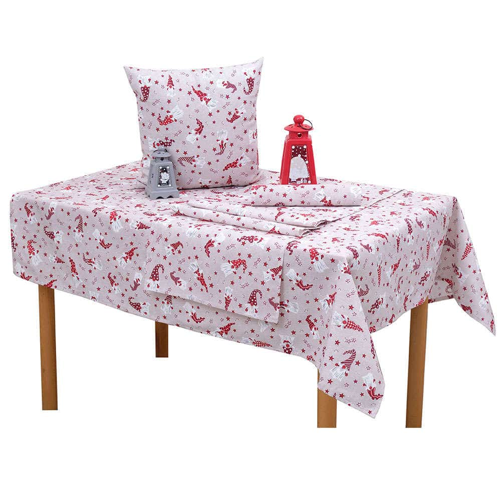 Σουπλά Χριστουγεννιάτικα Σχ 4446 Σετ 4τμχ White-Red Viopros